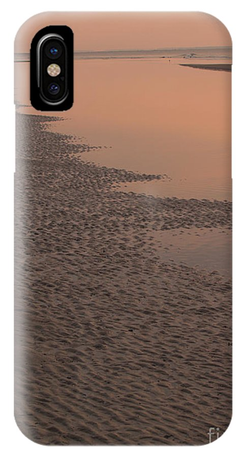 Sunrise IPhone X Case featuring the photograph Coastal Strand At Dawn On Hunting Island by Anna Lisa Yoder
