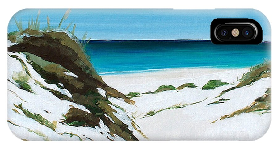 Dunes IPhone X Case featuring the painting Coastal Treasure by Racquel Morgan