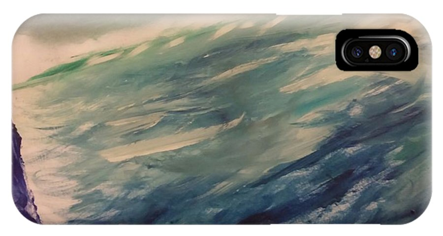 IPhone X / XS Case featuring the painting Coastal Waters by Gregory Dallum