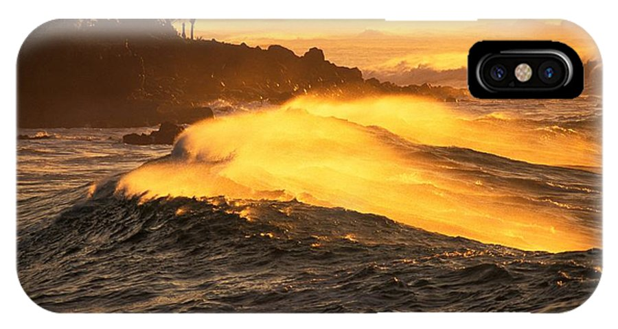 Afternoon IPhone X Case featuring the photograph Coastline Sunset by Vince Cavataio - Printscapes