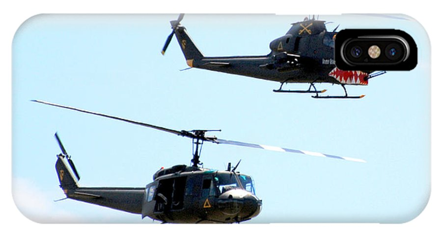 Military IPhone Case featuring the photograph Cobra And Huey by Larry Keahey