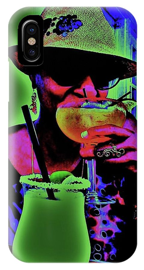 Cocktails IPhone X / XS Case featuring the photograph Cocktails Anyone by Diana Dearen