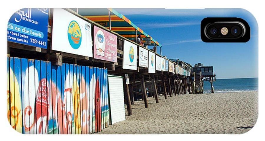 Florida; Cocoa; Beach; Atlantic; Ocean; East; Space; Coast; Brevard; Central; Pier; Surf; Surfing; F IPhone X Case featuring the photograph Cocoa Beach Flotida by Allan Hughes