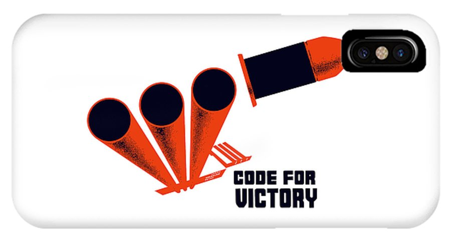 Ww2 IPhone X Case featuring the mixed media Code For Victory - Ww2 by War Is Hell Store