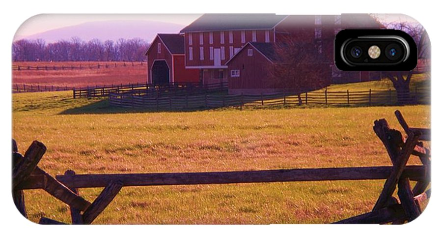 Codori IPhone X Case featuring the photograph Codori Barn Gettysburg by Eric Schiabor