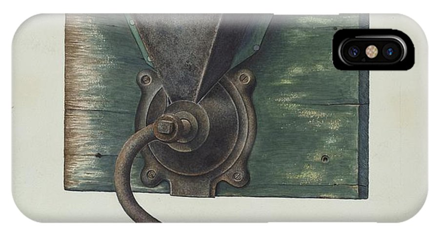 IPhone X Case featuring the drawing Coffee Mill by Ray Price