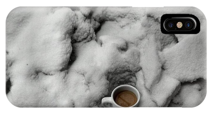 Coffee IPhone X Case featuring the photograph Coffee On The Rocks by T Cook