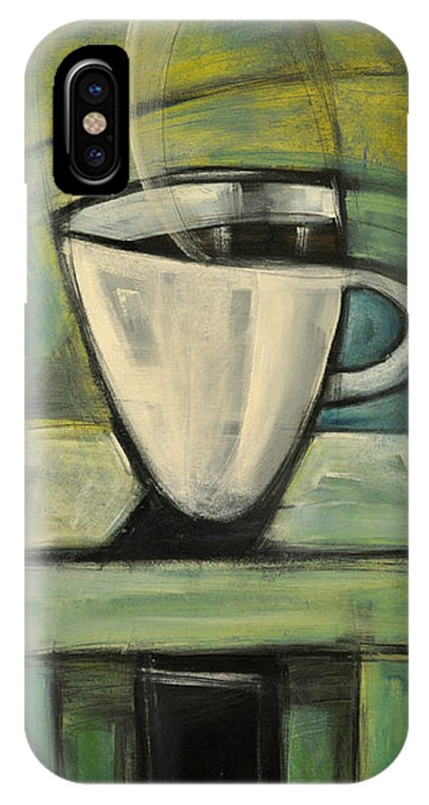 Coffee IPhone X Case featuring the painting Coffee. Table. 2 by Tim Nyberg