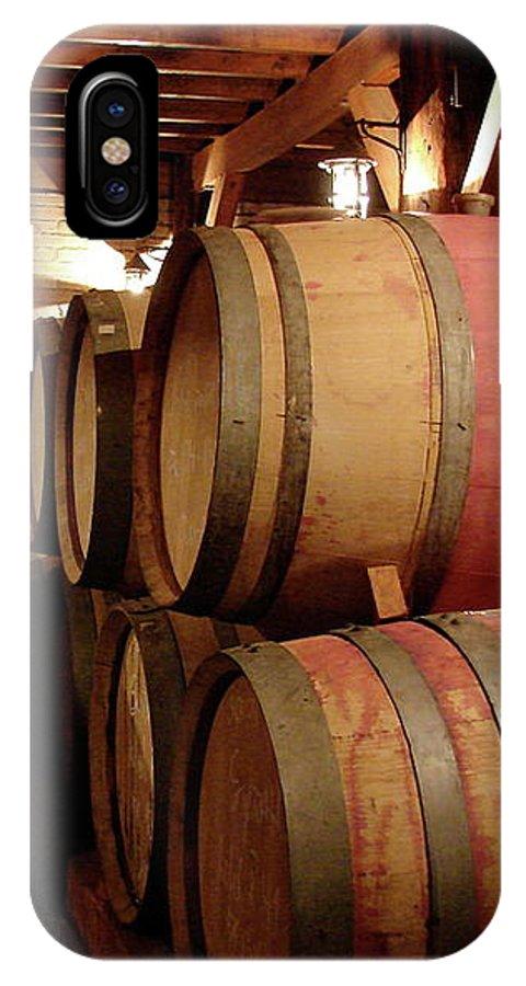 Colchagua IPhone X Case featuring the photograph Colchagua Valley Wine Barrels II by Brett Winn