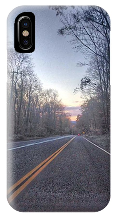 Open Road IPhone X Case featuring the photograph Cold Wanderer by Sarah Campbell