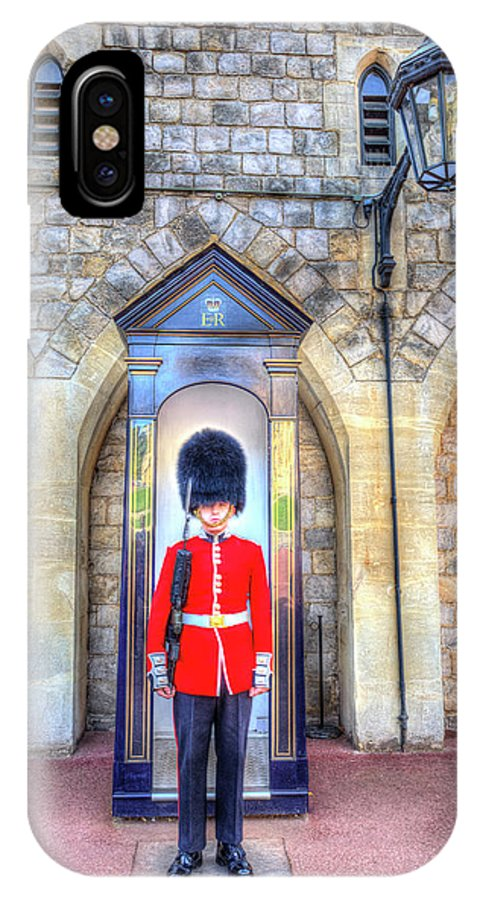 Windsor Castle IPhone X Case featuring the photograph Coldstream Guard by David Pyatt