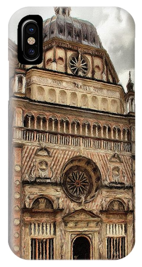 Chapel IPhone X Case featuring the painting Colleoni Chapel by Jeffrey Kolker
