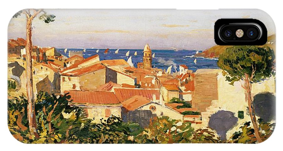 Collioure IPhone X Case featuring the painting Collioure by James Dickson Innes