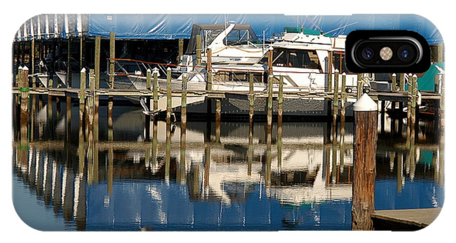 Clay IPhone X Case featuring the photograph Colonial Beach Marina by Clayton Bruster