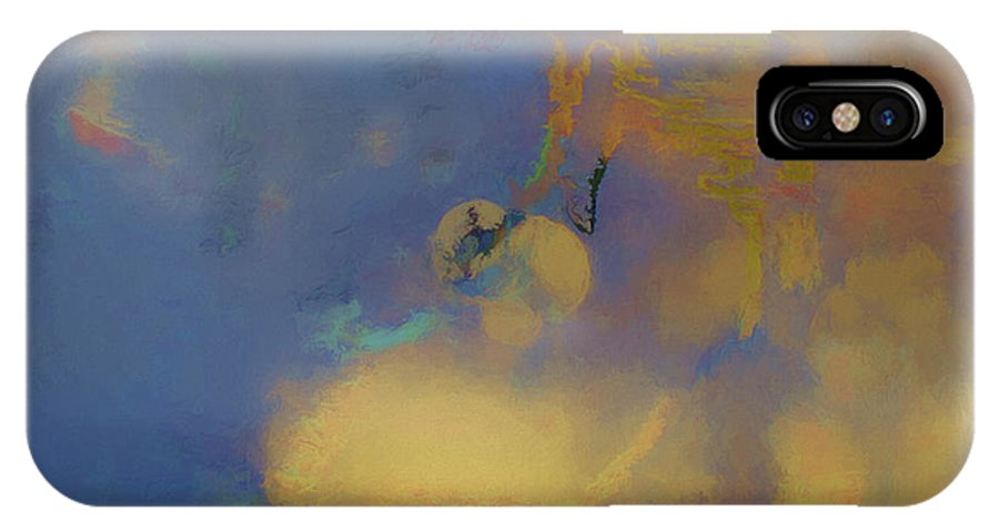 Abstract IPhone X Case featuring the photograph Color Abstraction Lxviii by David Gordon