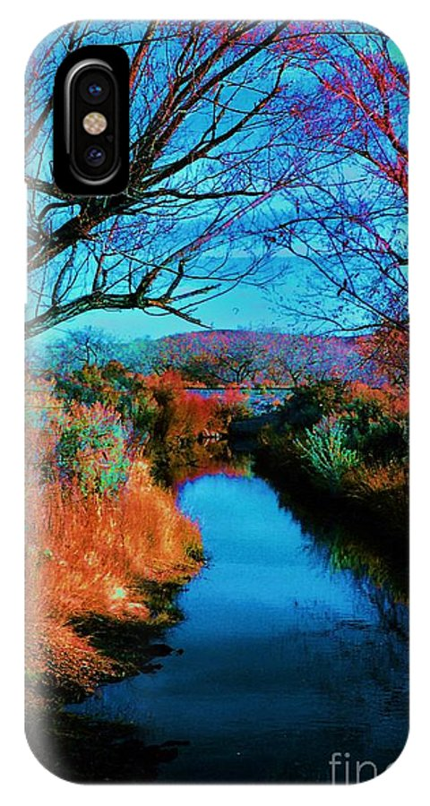 Color IPhone X / XS Case featuring the photograph Color Along The River by Diana Dearen