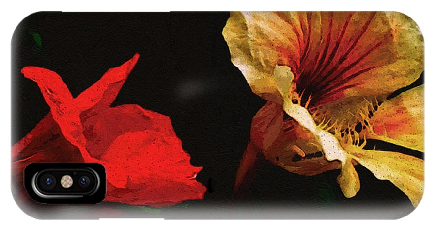 Flowers IPhone X Case featuring the painting Color And Light Suspended by RC DeWinter