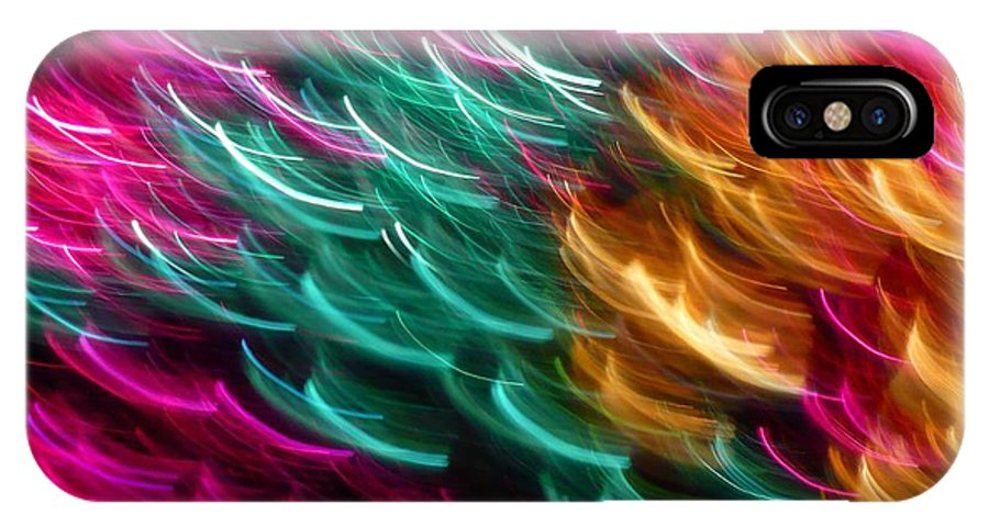 Abstract IPhone X Case featuring the photograph Color Curls by Florene Welebny