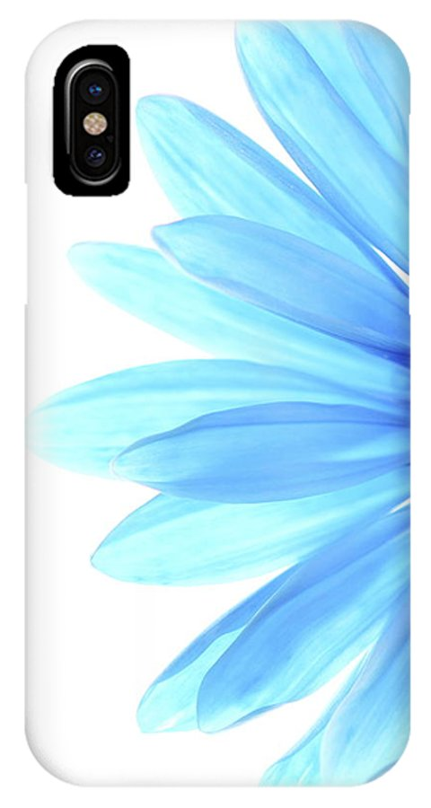 Daisy IPhone X Case featuring the photograph Color Me Blue by Rebecca Cozart