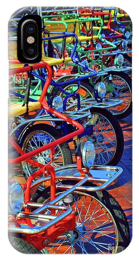 Bikes IPhone X Case featuring the photograph Color Of Bikes by Jost Houk