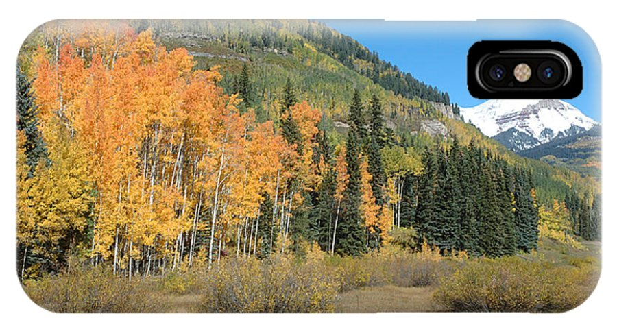 Aspen IPhone X Case featuring the photograph Colorado Gold by Jerry McElroy