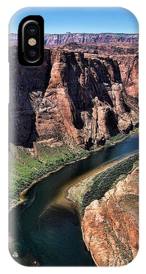 Horseshoe Bend IPhone X Case featuring the photograph Colorado River Horseshoe Bend by Chuck Kuhn