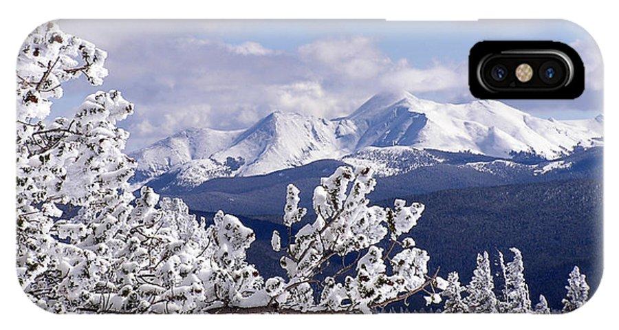 Mountains IPhone X Case featuring the photograph Colorado Sawatch Mountain Range by Carol Milisen