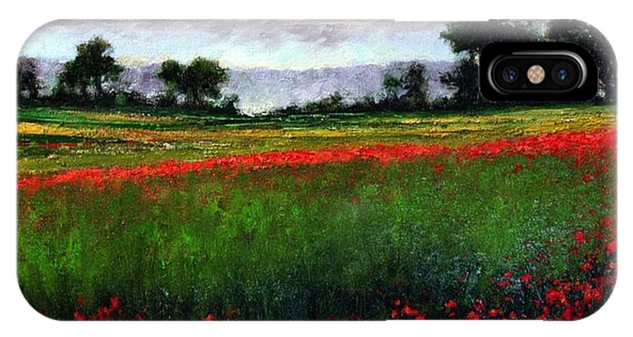 Landscape IPhone X / XS Case featuring the painting Colorburst by Jim Gola