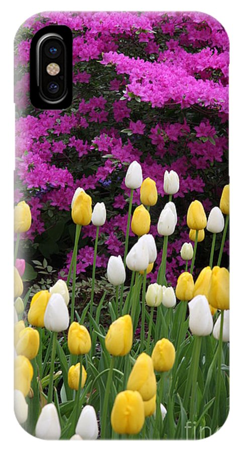 Azalea IPhone X Case featuring the photograph Colorful Spring by Christiane Schulze Art And Photography