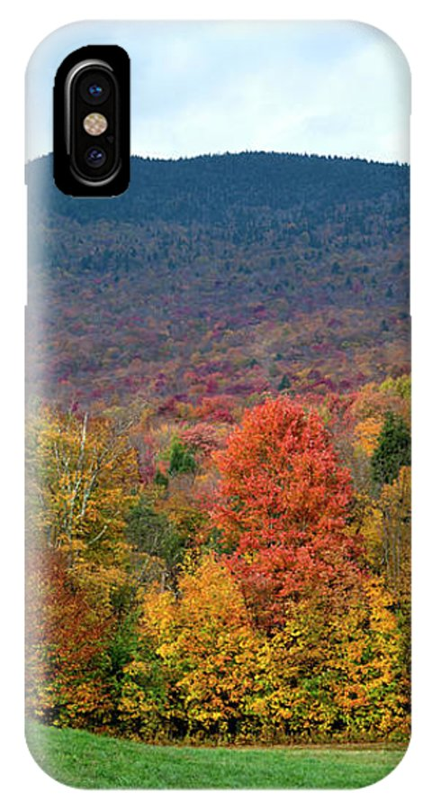 Color IPhone X Case featuring the photograph Autumnal Vermont by Carole Gordon