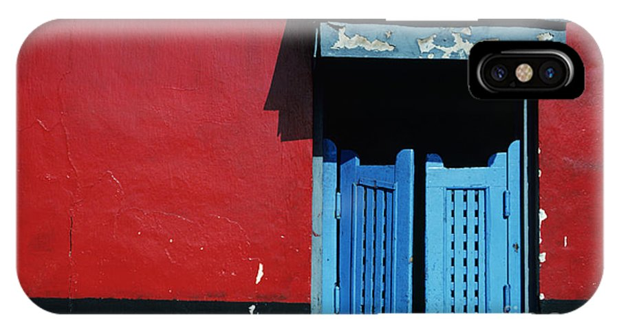 Architecture IPhone X Case featuring the photograph Colorful Caribbean Door by Larry Dale Gordon - Printscapes