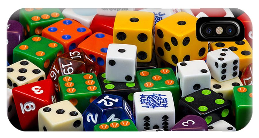 Dice IPhone X Case featuring the photograph Colorful Dice 2 by Robert Storost