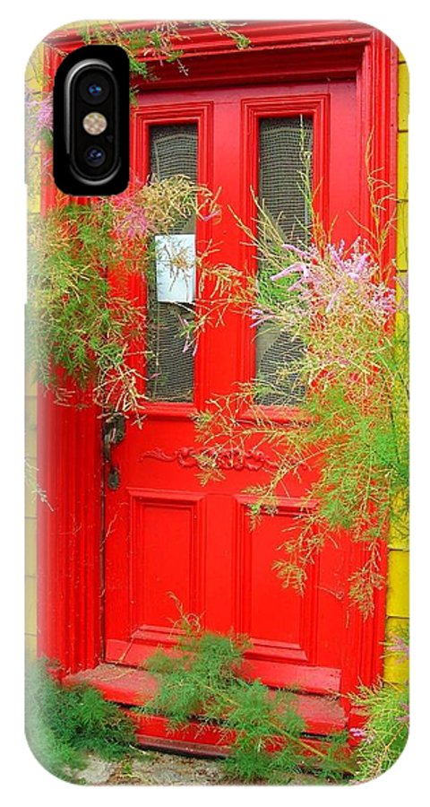 Color IPhone X Case featuring the photograph Colorful Entrance ... by Juergen Weiss