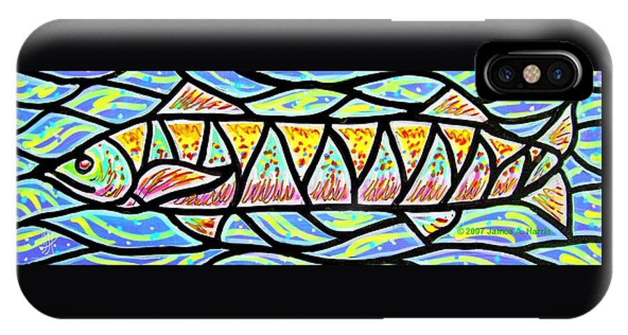 Fish IPhone Case featuring the painting Colorful Longfish by Jim Harris