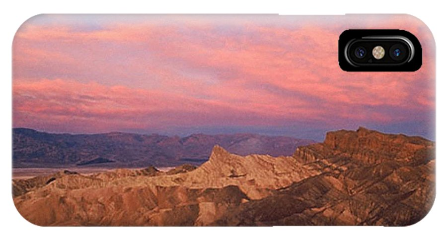 Death Valley IPhone X Case featuring the photograph Colorful Mountains by Sven Brogren