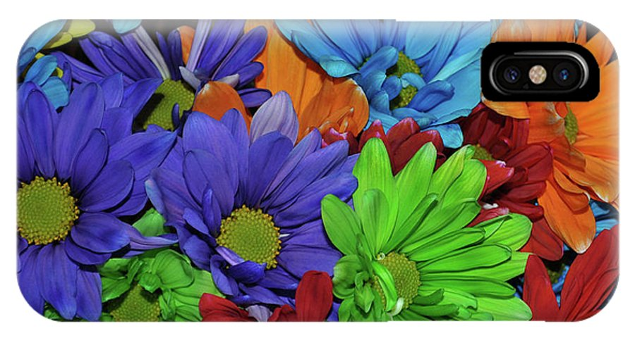 Daisy IPhone X Case featuring the photograph Colorful Petals by JAMART Photography