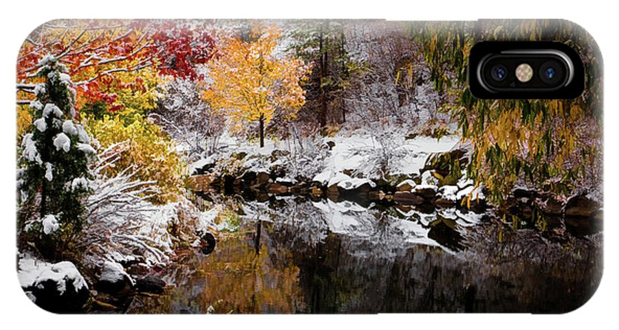 Jon Burch IPhone X Case featuring the photograph Colorful Pond by Jon Burch Photography