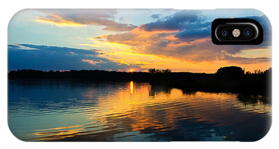 Sunset IPhone X Case featuring the photograph Colorful Serenity by Jennifer Stockman