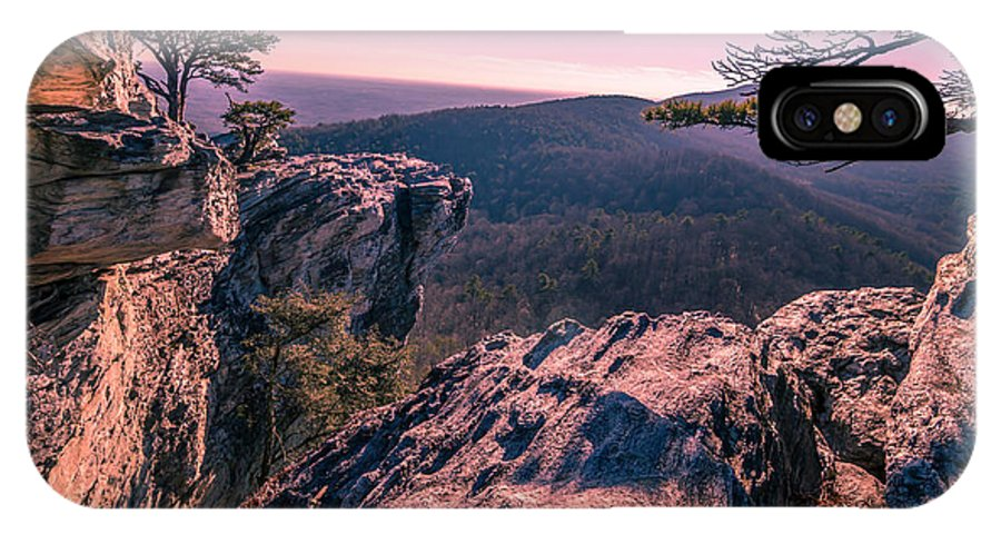 North Carolina IPhone X Case featuring the photograph Colorful Sunset At Hanging Rock by Capturing The Carolinas