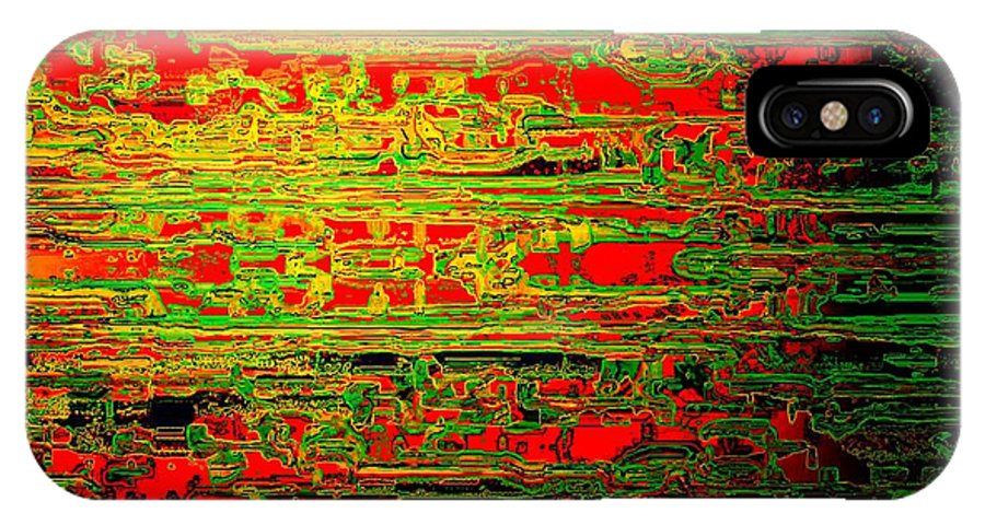 Colorisentenz IPhone Case featuring the digital art Colorisentences by Helmut Rottler