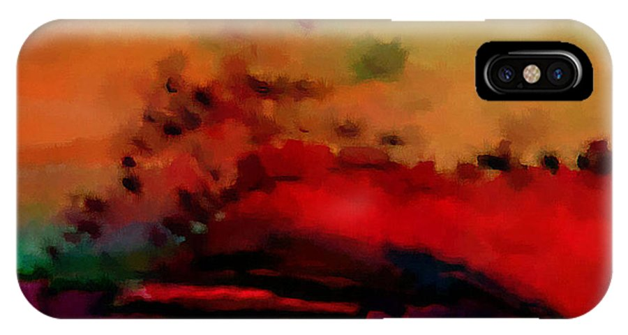 Digital IPhone X Case featuring the digital art Colors In Aquarell by Ilona Burchard