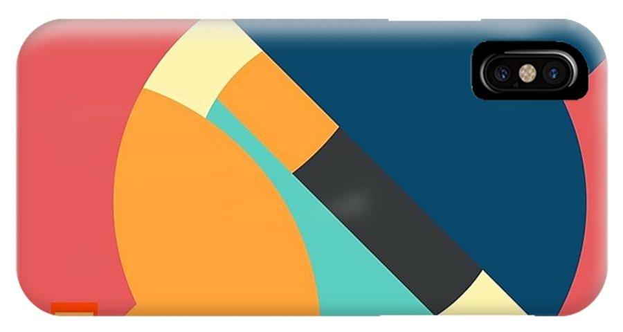 Abstract IPhone X Case featuring the digital art Colors by Mary Jo Hopton