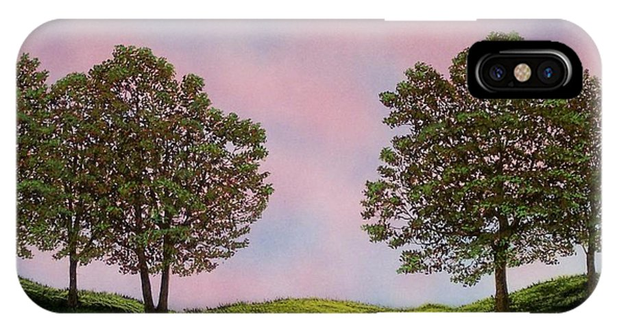 Landscape IPhone Case featuring the painting Colors Of Dawn by Frank Wilson