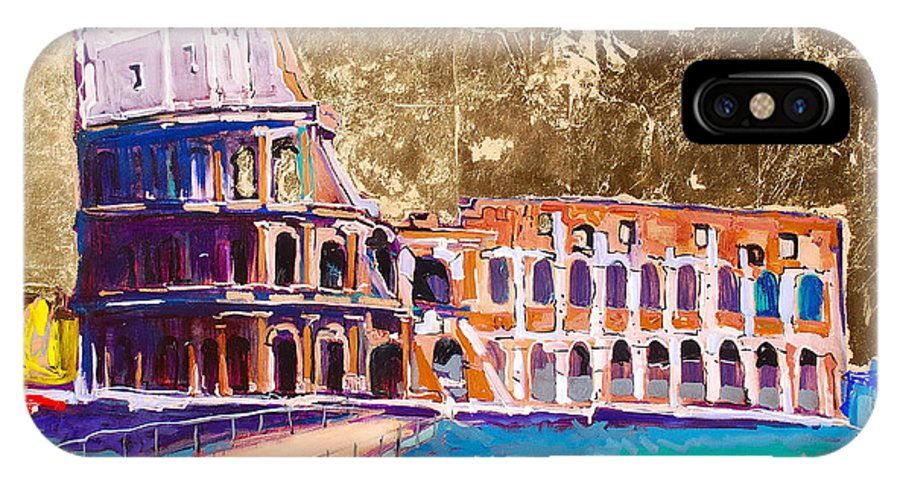Rome IPhone Case featuring the painting Colosseum by Kurt Hausmann