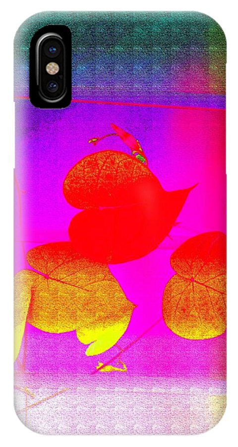 Hearts IPhone X / XS Case featuring the digital art Coloured Hearts Iv by Sonali Gangane