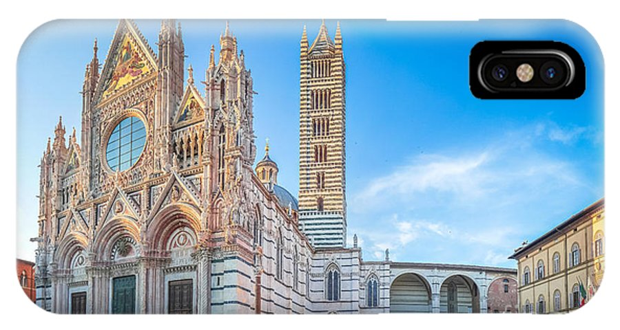 Cattedrale Di Santa Maria Assunta IPhone X Case featuring the photograph Colourful Siena Cathedral by JR Photography