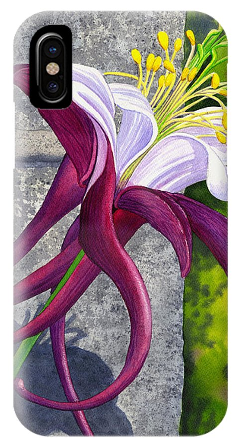 Columbine IPhone Case featuring the painting Columbine by Catherine G McElroy