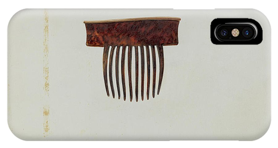 IPhone X Case featuring the drawing Comb by Irene Lawson