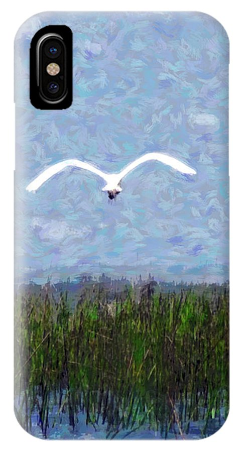Bird IPhone X Case featuring the photograph Come Fly Away by Jack Gannon