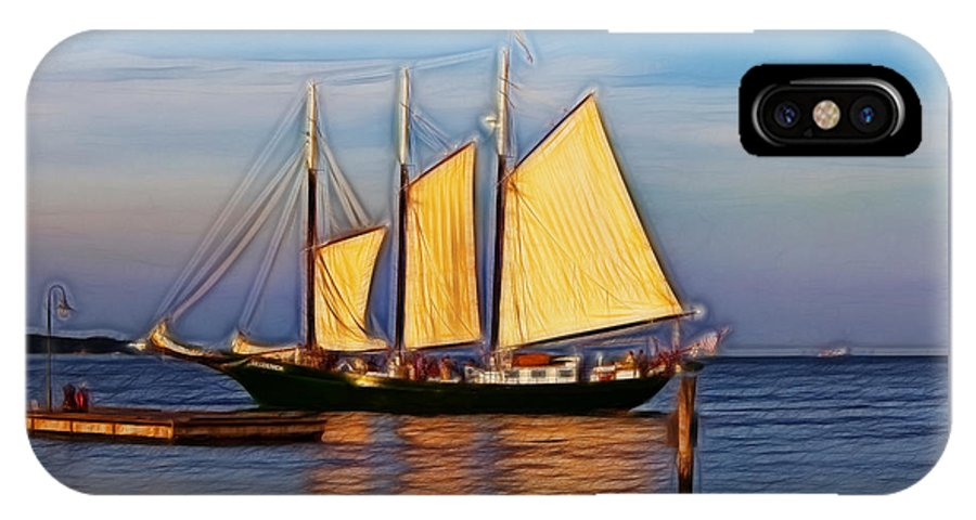 Alliance IPhone X Case featuring the photograph Come Sail Away by Amy Jackson